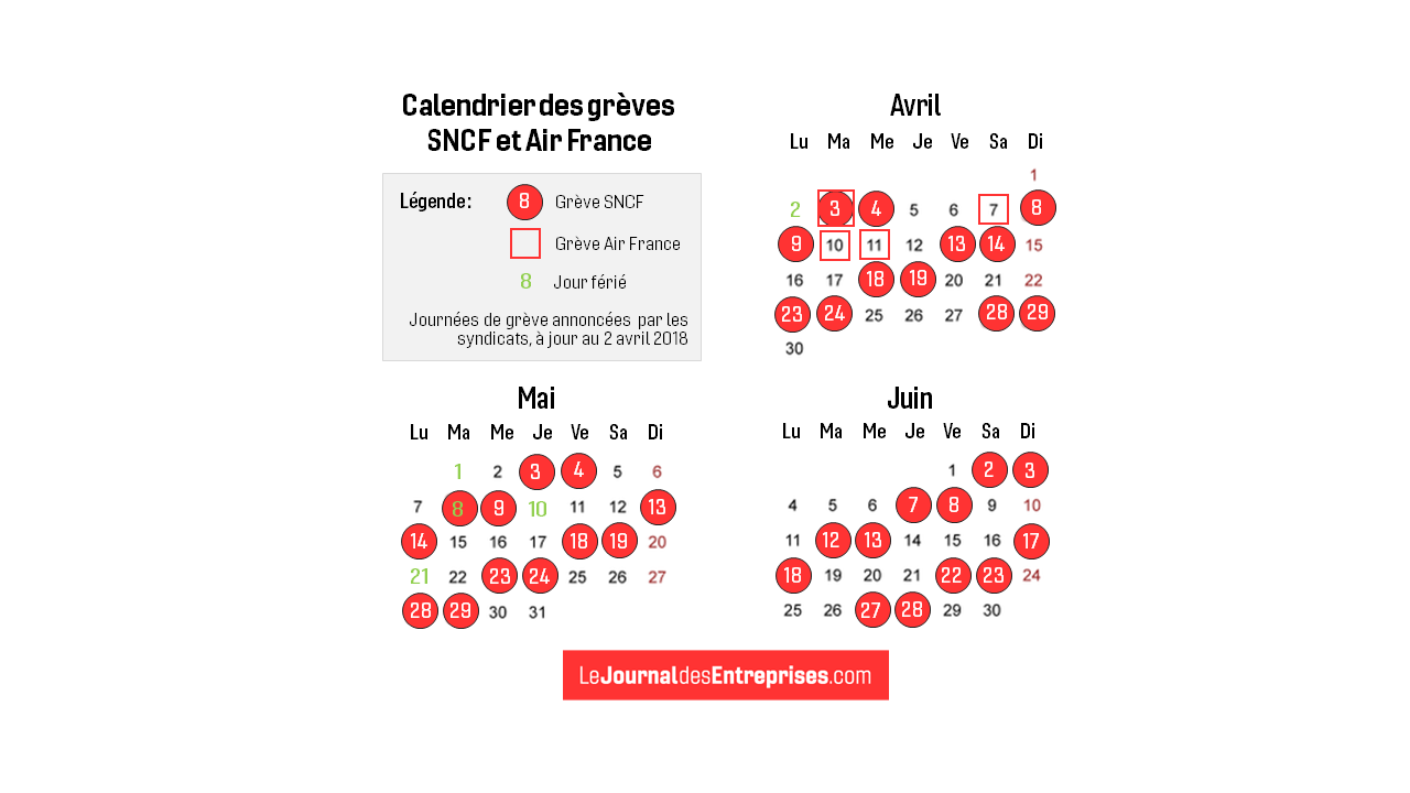 Calendrier Greves Air France.Calendrier Des Greves