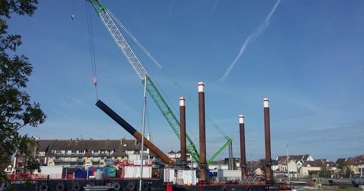 Port de Ouistreham : la base de maintenance du futur champ éolien offshore est sur les rails - Le Journal des Entreprises