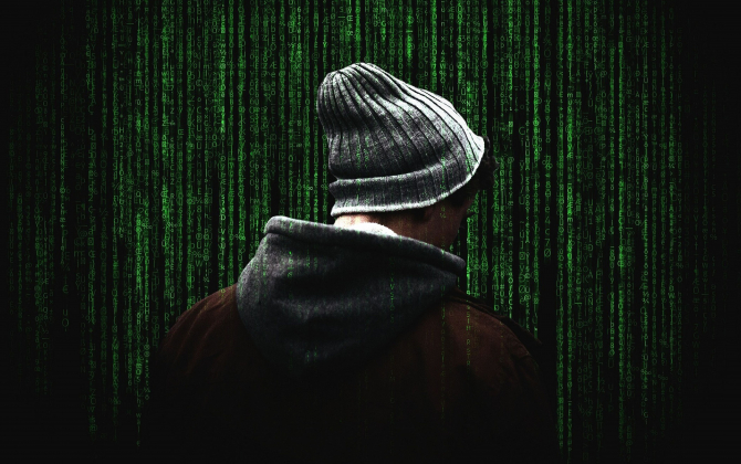 Illustration d'un hacker informatique, cybersécurité