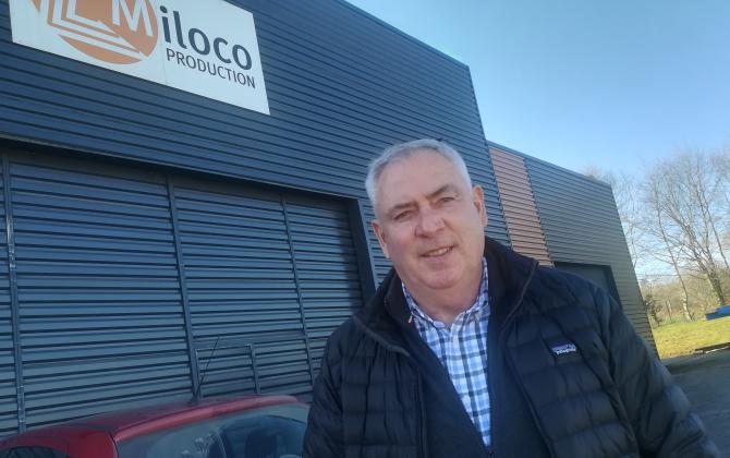 Louis Coatmellec a fondé Miloco à Glomet en 1986. L'entreprise est un spécialiste européen et mondial de la remorque aéroportuaire.
