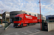 Camion rouge Transcan