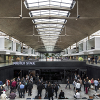 La station F, campus de start-up créé par Xavier Niel, à paris